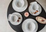 Bali 10 részes modern design porcelán étkészlet 2 személyre