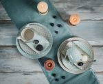 Happy family Xl 8 részes modern design porcelán étkészlet 2 személyre
