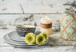 PERFECT CONTRAST 6 részes porcelán design étkészlet, 2 személy részére