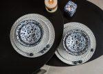 Flowers of princess 8 részes modern design porcelán étkészlet 2 személyre