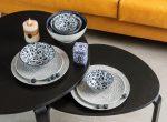 PRINCESS  9 részes porcelán design étkészlet, 2 személy részére