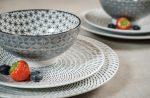Retro star 6 részes  modern design porcelán étkészlet 2 személyre