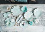 Turquise ocean 14 részes modern design porcelán étkészlet 2 személyre