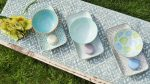 Happy family 6 részes modern design porcelán étkészlet 3 személyre