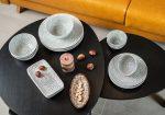 Bali 20 részes modern design porcelán étkészlet 4 személyre
