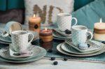 Happy family XI 16 részes modern design porcelán étkészlet 4 személyre.