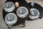 Flowers of princess 16 részes modern design porcelán étkészlet 4 személyre