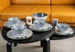FLOWER OF PRINCESS 4 személyes, 17 részes design porcelán étkészlet