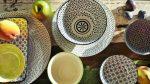 Retro star 28 részes modern design porcelán étkészlet 4 személyre
