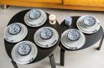 Flowers of princess 24 részes modern design porcelán étkészlet 6 személyre
