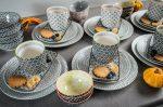 Retro star 42 részes modern design porcelán étkészlet 6 személyre
